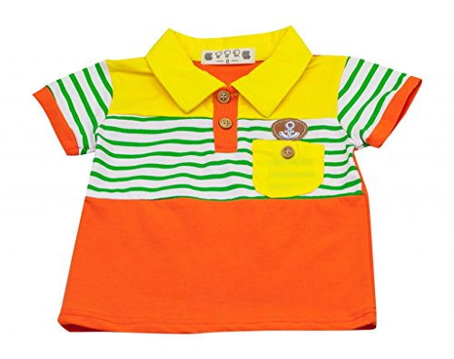 Grazie Little Boys' Going Out To Sea Polo 5 (4 To 5Yrs) Orange front-912474