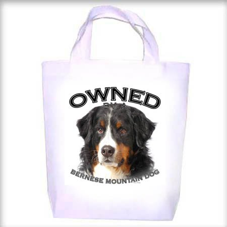 Bernese Mountain Dog Owned Shopping - Dog Toy - Tote Bag
