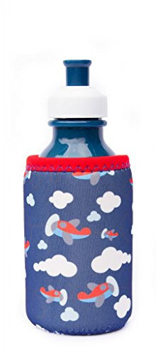 Kidzikoo - #1 Neoprene Baby Bottle/Sippy Cup Insulator Cooler Coozie - Airplanes