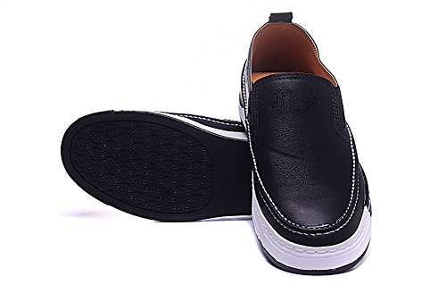 Men's Black Label Society Band Logo Embossing Leather Classic Canvas Casualshoes