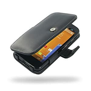Motorola MOTO G Leather Case / Cover (Handmade Genuine Leather) - XT1032 - Book Type (Black) by Pdair