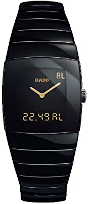 Rado Watches Rado Sintra Super Jubile Black Tone Ceramic Digital and Analogue Multi-Function Men's Watch