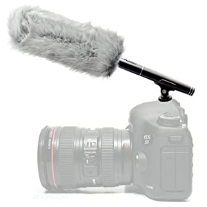 MegaGear Professional Shotgun Camcorder and Camera Microphone with Windmuff