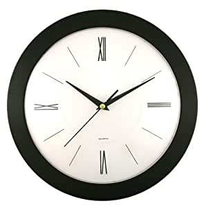 Buy Timekeeper Products Llc 12 Inch Round Black Wall Clock