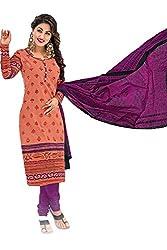 Gugaliya Women's Unstiched Superior Cotton SALWAR,KAMEEZ & DUPATTA Suit ( P507 )
