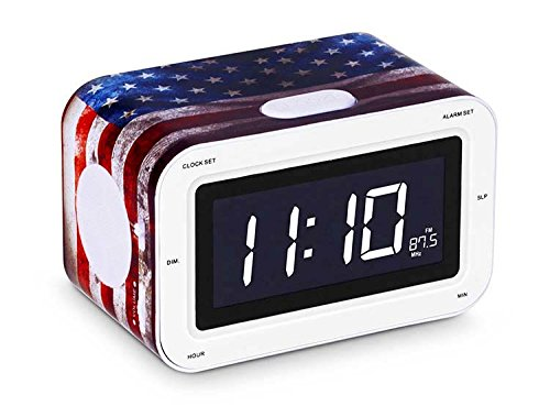Bigben Interactive RR30USA KIDS Radio Sveglia LCD, Motivo USA, Multicolore