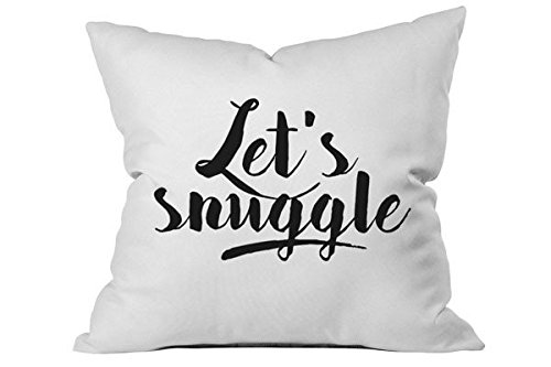 OH, SUSANNAH Let's Snuggle 18x18 Inch Throw Pillow Cover (Pink Champagne Cake Mix compare prices)