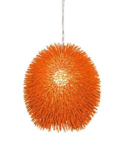 Varaluz Urchin 1 Light Pendant, Electric Pumpkin