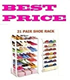 PRIMA FREE STANDING 21 PAIR SHOE RACK TIDY STORAGE SHOE RACK STAND 7 TIER 21 PAIRS SHOE STORAGE ORGANISER
