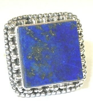Lapis Sterling Silver Ring - Size 6.5