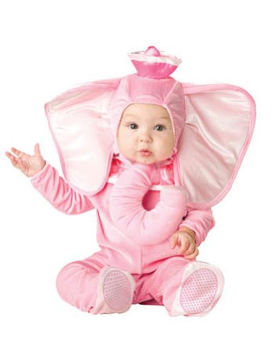 Pink Elephant Pooh Baby Costume 6-12 Months front-1022644