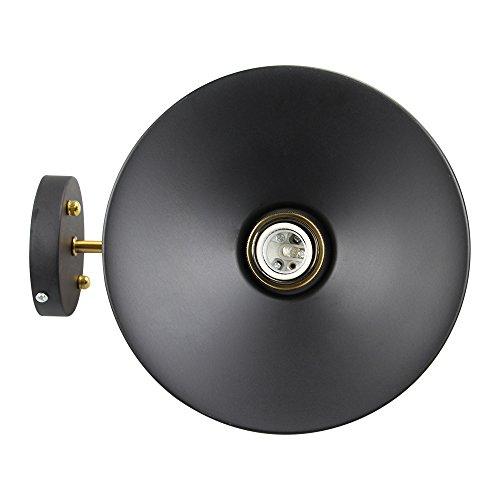 Applique Murale Industrielle en métal Noir - 8