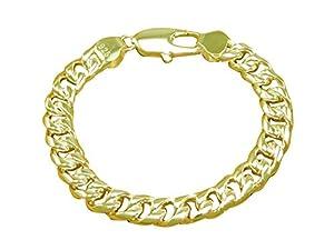 Unisex Gold Plattiert Klassisch Ewigkeit Kreuz Sperren Glieder Kette Armband Wristband 8.2 inches