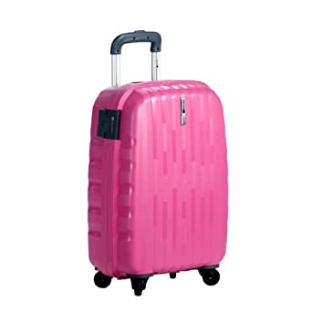 """Delsey Helium Colours 21"""" 4 Wheel Trolley - Pink"""