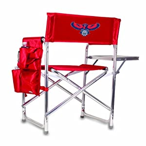 NBA Atlanta Hawks Portable Folding Sports Chair, Red by Picnic Time