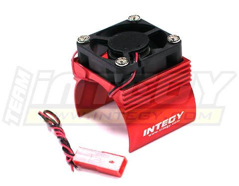 Integy RC Hobby C23140RED Super Brushless Motor Heatsink+Cooling Fan 540 Size BL (540 Motor Cooling Fan compare prices)