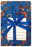 Blue Paisley Luggage tag and Passport Cover Gift Set