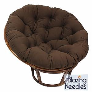 Blazing Needles Solid Twill Papasan Chair Cushion 44 X 6