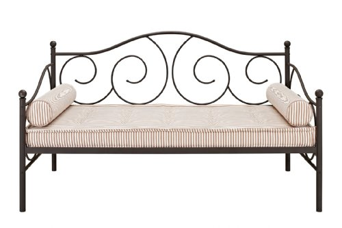Dhp Victoria Metal Daybed, Twin, Bronze front-1071736
