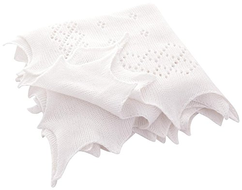 JoJo Maman Bebe Traditional Newborn Shawl, White - 1