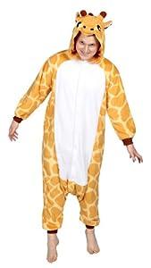 Kigs Adult Giraffe Costume - Kigurumi Onesie Pyjamas; One Size