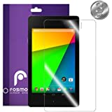 Fosmon Crystal Clear Smooth Screen Protector Shield (Japan Material) Foil Film for New Google Nexus 7 2 II 7.0 PC Tablet (2nd Generation 2013) - 3 Pieces