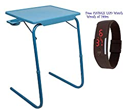 Multi Surya Table Table Mate Multi Table Blue Color With Cup Holder By Rvold