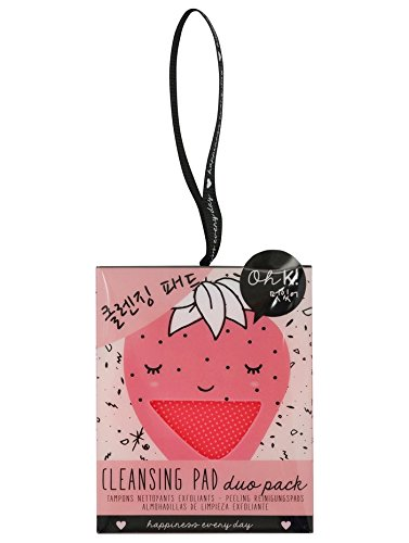 npw-oh-k-character-strawberry-cleansing-pad-and-exfoliator-duo-pack-multicolour-one-size