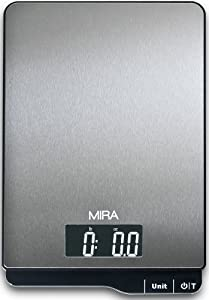 MIRA Brands Digital Large Platform Stainless Steel Food Scale by MIRA Brands