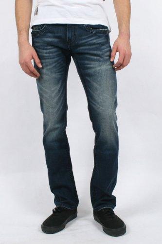 Rock Revival - Mens Spencer Alt Straight Leg Jeans in A Denim, Size: 36, Color: Denim