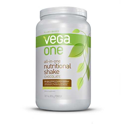 Vega One All-In-One Nutritional Shake, Chocolate, Large Tub,30.9 Oz front-136401