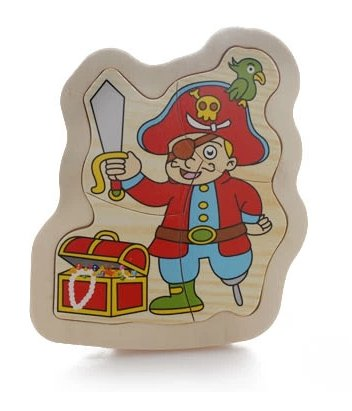 Thinkmax? Wooden Jigsaw Puzzle Toy Pirates Model front-262228