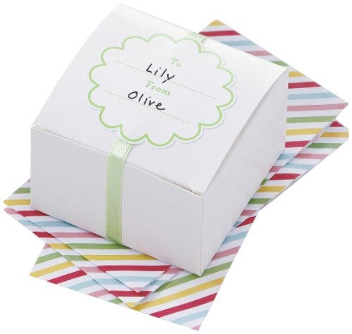 Martha Stewart Crafts Modern Festive White Treat Box