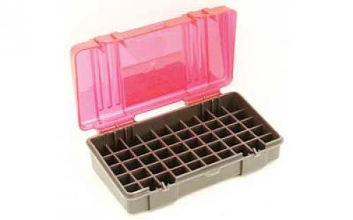 Plano 50 Round Ammo Case Charcoal Rose Hard .45 ACP .40 S&W