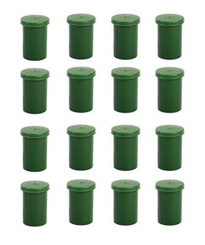 geo-versand Lot de 20 boîtes de pellicule pour géocaching avec couvercle Vert