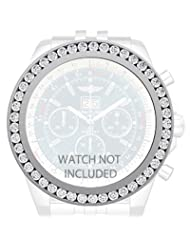 Breitling Bentley 6.75 Bezel Custom 7.00 carats 100% real Diamonds Superb F Vs-2