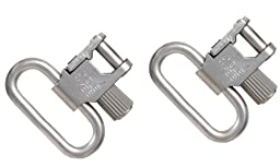 Uncle Mike\'s Quick Detachable Super Swivel with Tri-Lock (Nickel-Plated, 1-Inch Loops)