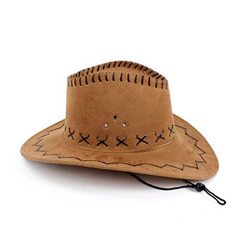 HMILYDYK-cappello da Cowboy Fancy Dress-Cappello a tesa larga Stetson Cowgirl Wild West
