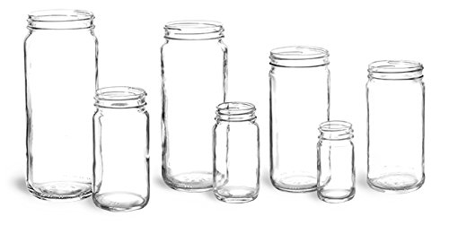 16oz. Glass Jars, Clear Glass Paragon Jars (12 Jars) - NO LIDS (Paragon Glass Jar compare prices)