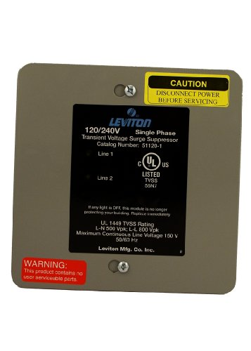 120/240 Volt Panel Protector, 4-Mode Protection, Light Commercial/Residential Grade, In NEMA 1 Enclosure, 51120-1