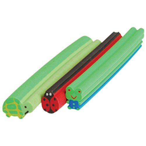 Lot Of 6 Assorted Animal Theme Eraser Sticks - 1