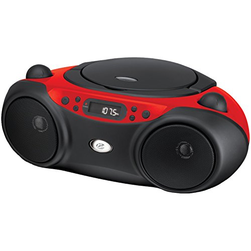 DPI GPX BC232R CD/CD-R/RW Boombox with AM/FM Radio, Red