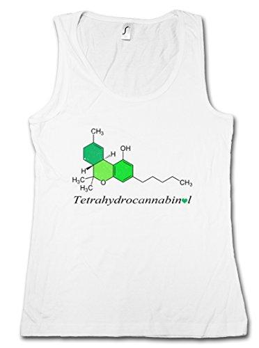 "THC FORMULA ""J"" DONNA CANOTTA TANK TOP - chimica Lehrer Chemische Formel Teacher Weed Cannabis Kush Gras Shit Taglie S - 2XL"