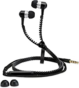 Dhhan Black zipper headphones for Karbonn K98