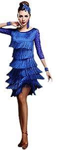 Honeystore 2016 Neuheiten Damen Vielschichtig Quasten Swing Rhythmus Jazz Latein Dance Kleid