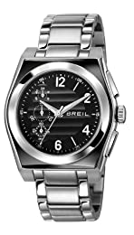 Breil Escape Men's Quartz Watch with Black Dial Chronograph Display and Silver Stainless Steel Bracelet TW0926