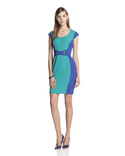 Marc New York Women's Colorblock Dress with Faux Belt