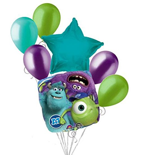 7 pc Monsters Inc. Mike Sully Balloon Bouquet Party Decoration Disney Birthday (Monsters Inc Birthday Decorations compare prices)