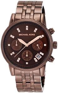 Michael Kors Women's MK5547 Showstopper Chocolate Chronograph Watch