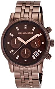 Michael Kors Women's MK5547 Showstopper Chocolate Chronograph Watch